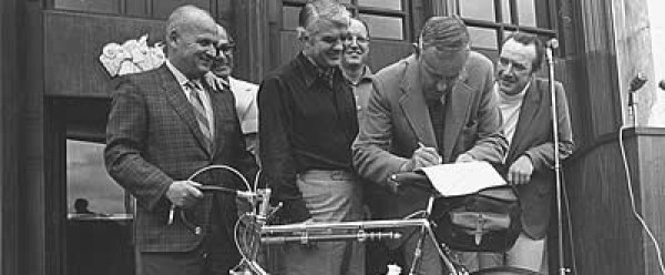 Tom McCall Signs the Bike Bill EDITED