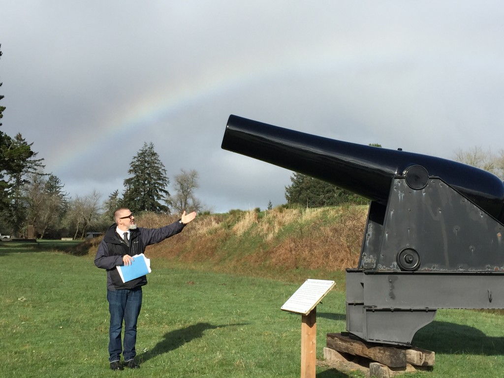 Cause rainbows are fucking groovy!!! And Civil War cannons go BOOM!