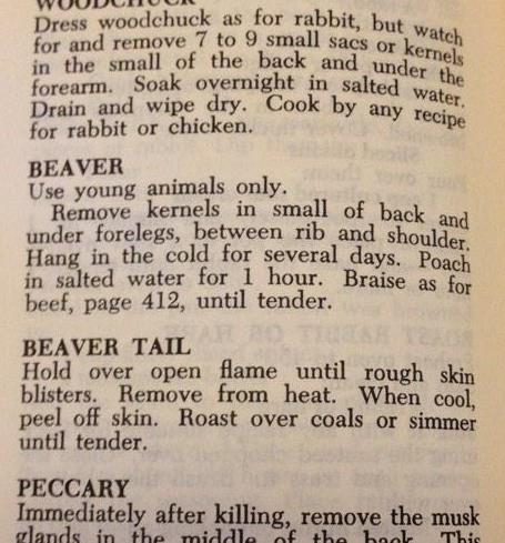 Joy of Cooking Beaver