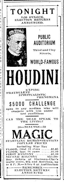 Houdini Portland 11.4.1924