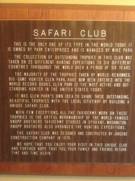 safari sign